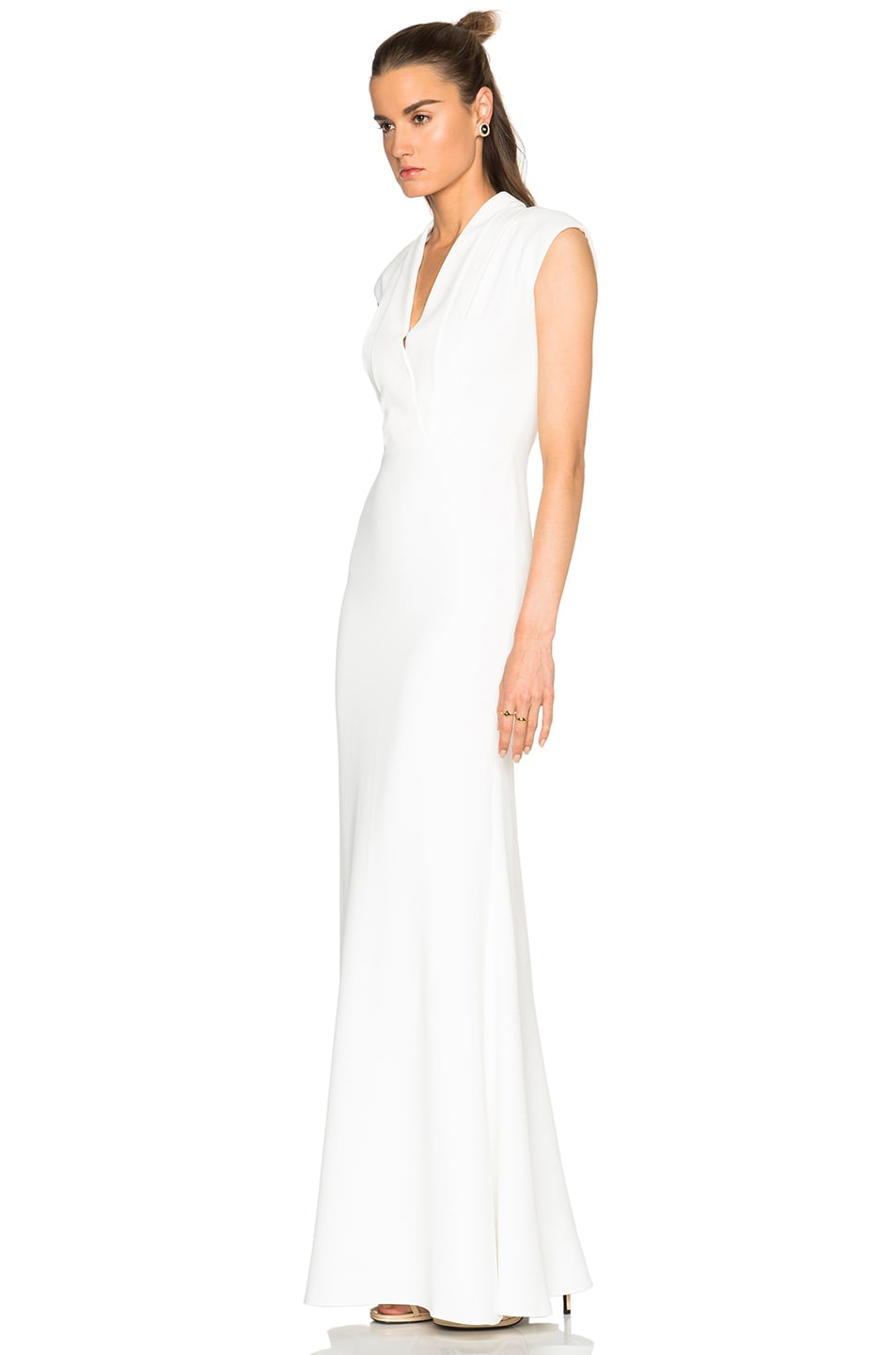 Image 2 of Alexander McQueen Large Double Lapel Gown in Ivory