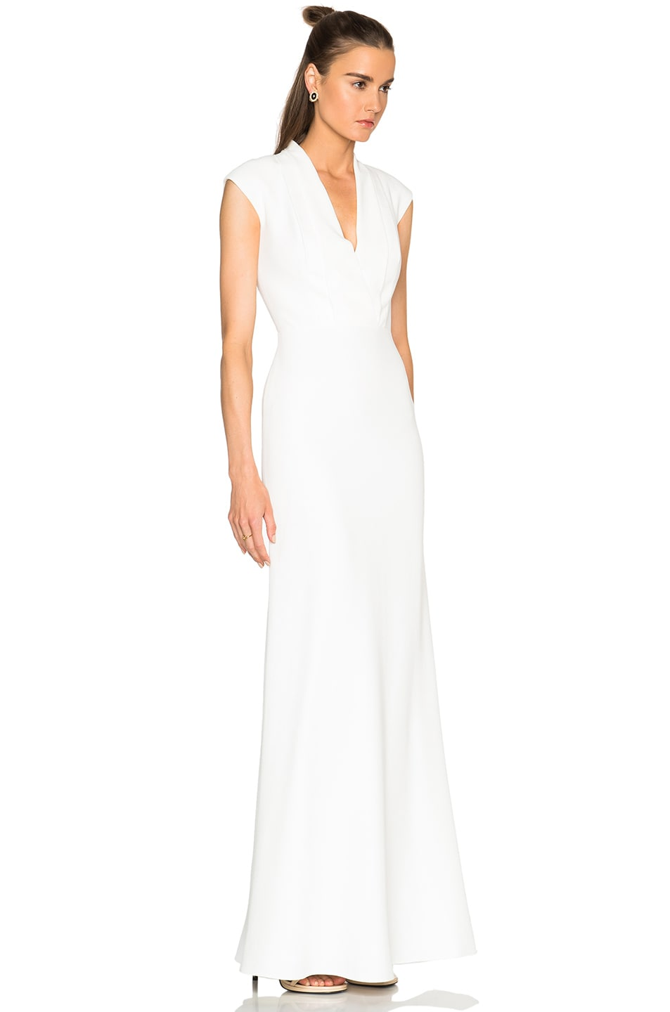 Image 3 of Alexander McQueen Large Double Lapel Gown in Ivory
