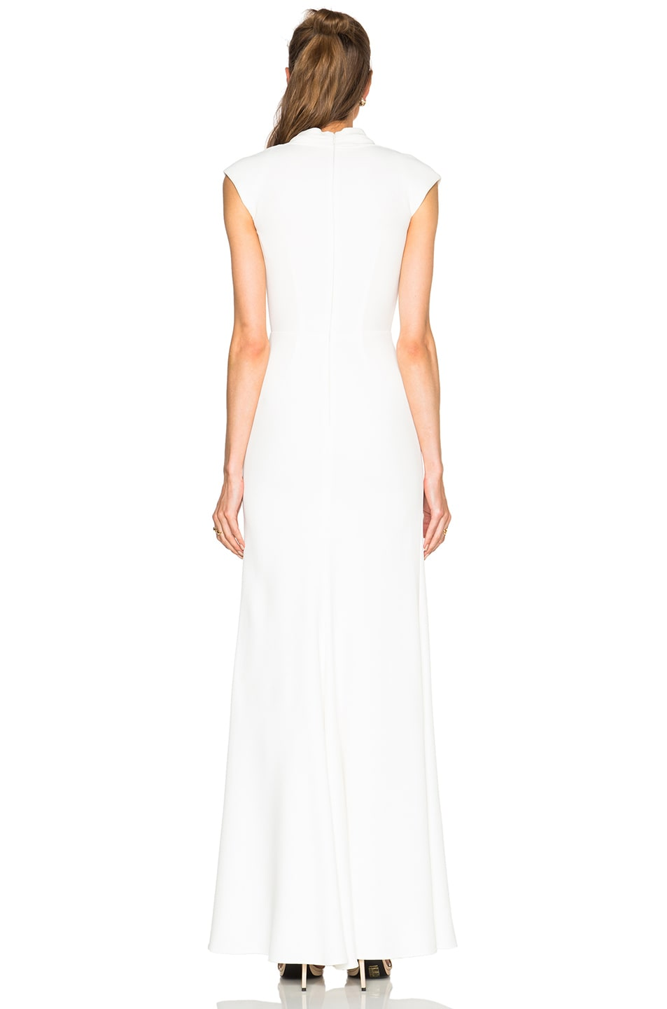 Image 4 of Alexander McQueen Large Double Lapel Gown in Ivory