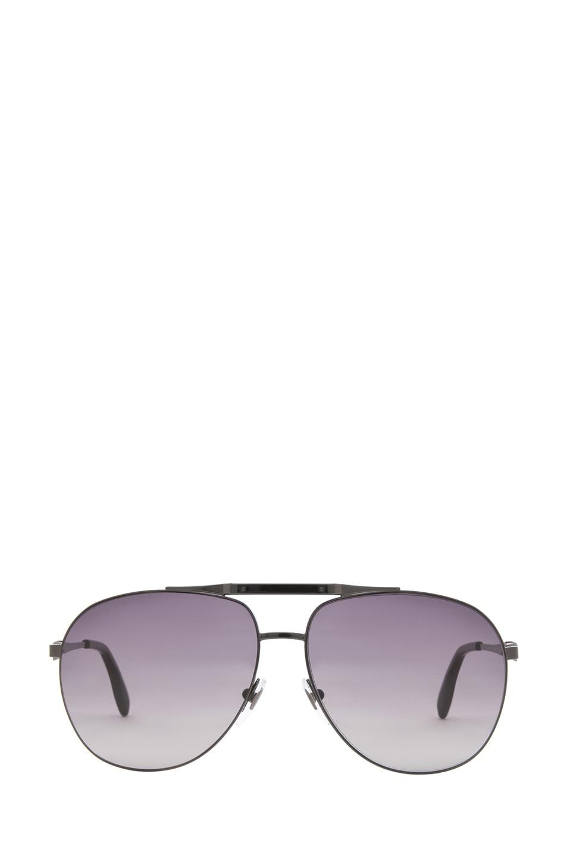 Image 1 of Alexander McQueen 4210 Sunglasses in Dark Ruthenium & Brown Gradient