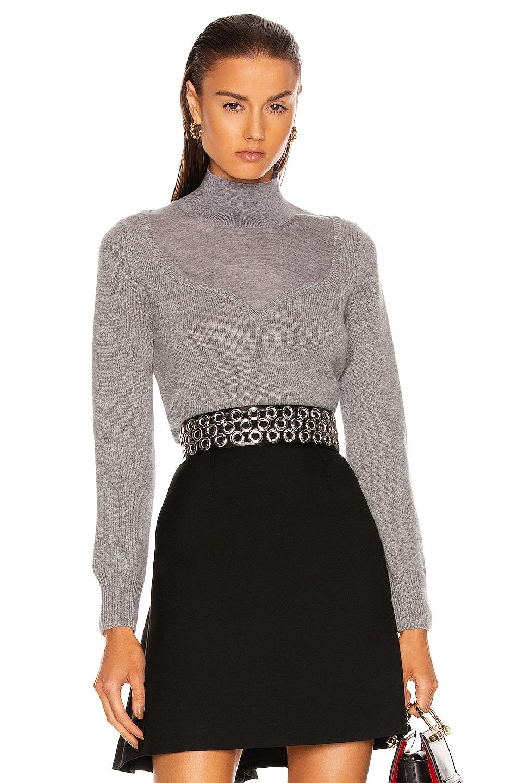 Image 1 of Alexander McQueen Turtleneck Sweater in Grey Melange