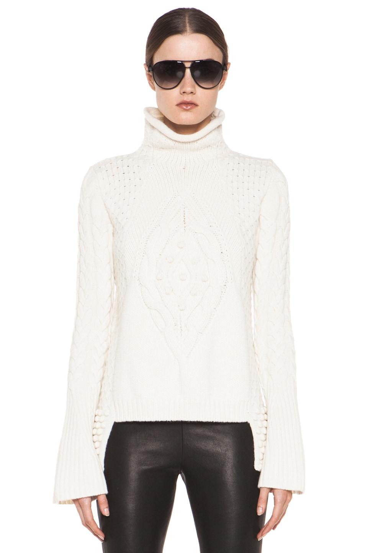 Image 1 of Alexander McQueen Aran Sweater in Cream