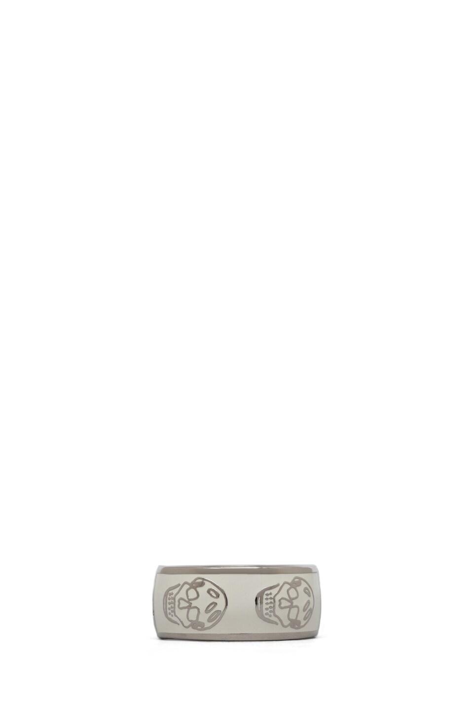Image 1 of Alexander McQueen Enamel Ring in White
