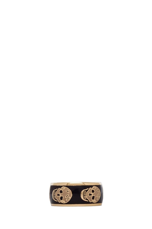 Image 1 of Alexander McQueen Enamel Ring in Aubergine