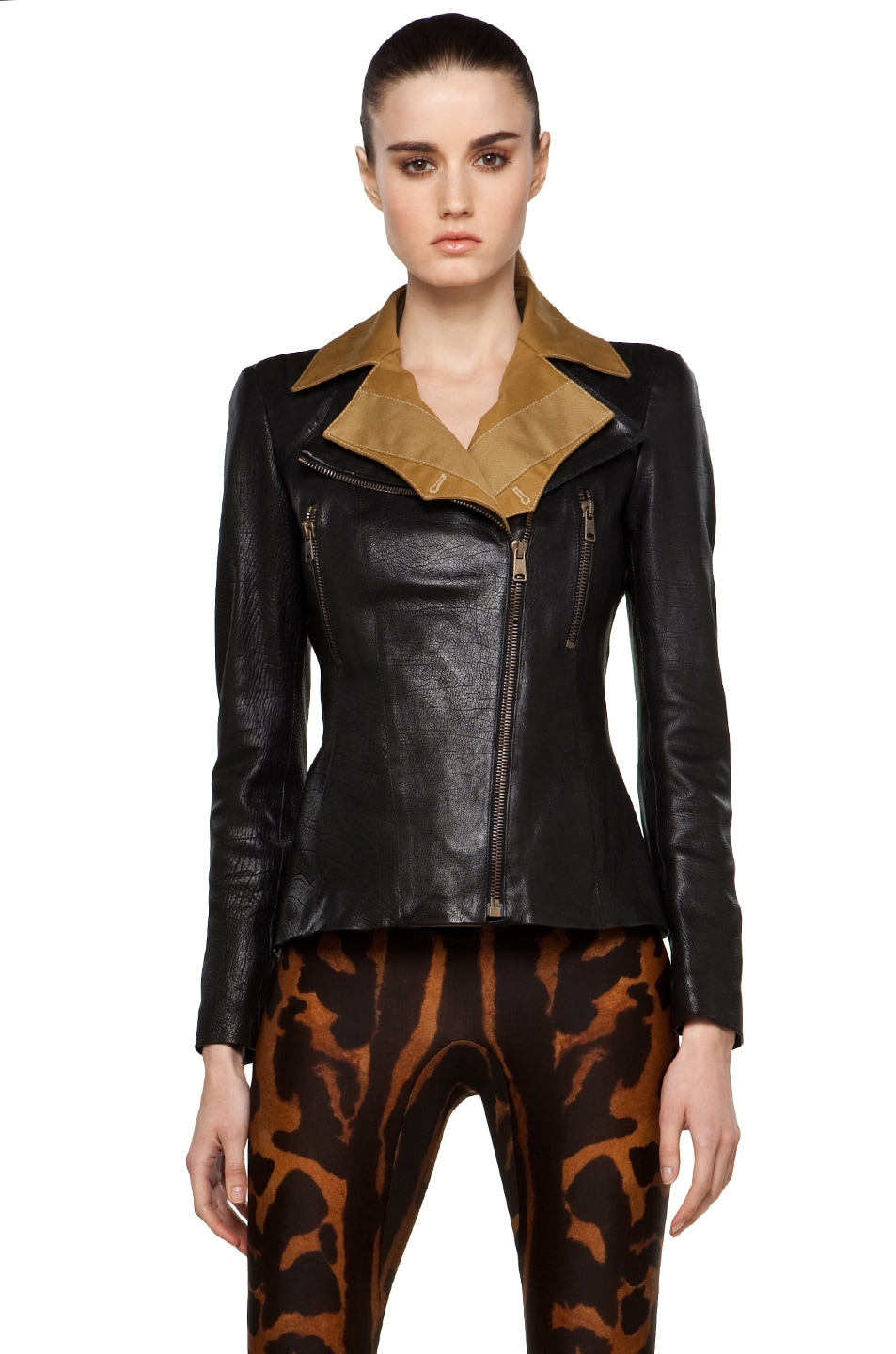Image 1 of Alexander McQueen Leather Jacket in Multi