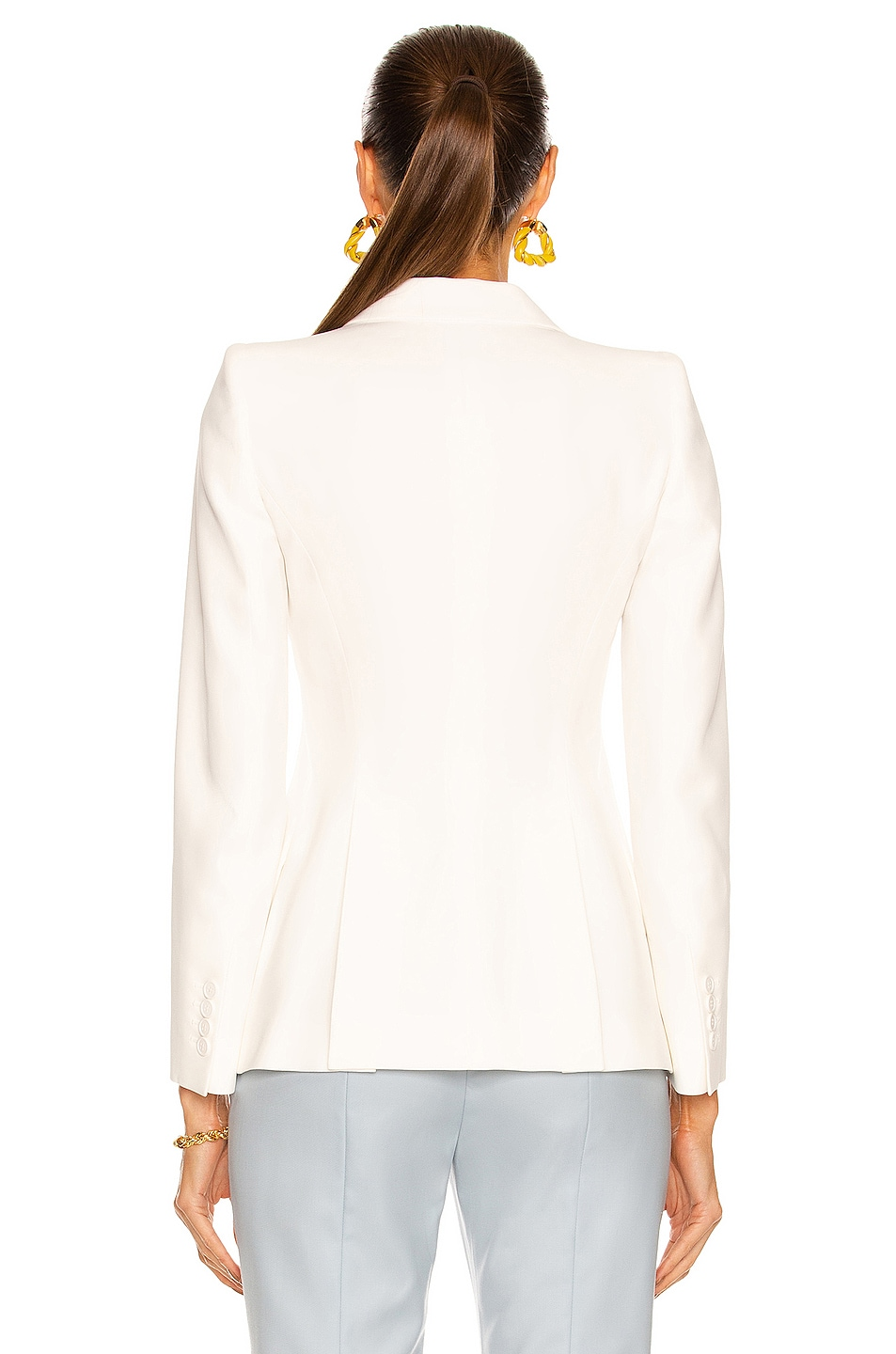 Image 3 of Alexander McQueen One Button Classic Blazer in Ivory
