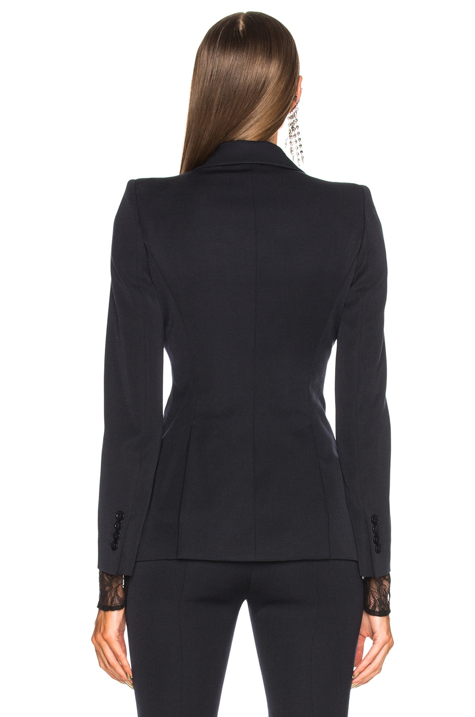 Image 4 of Alexander McQueen One Button Classic Blazer in Midnight Blue