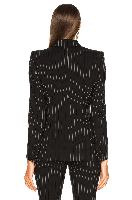 Alexander McQueen Pinstripe One Button Blazer Black & White delicate