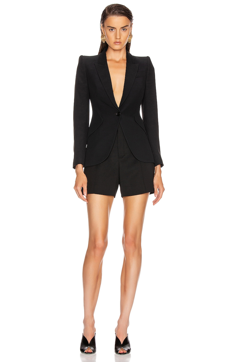 Image 4 of Alexander McQueen Tailored Jacket in Black