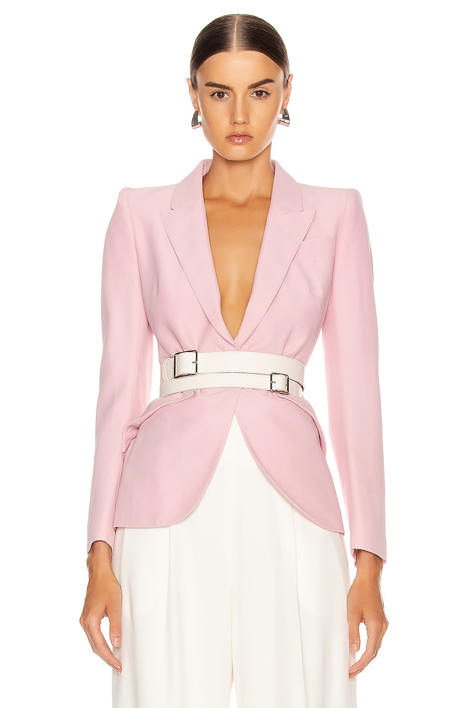 Image 1 of Alexander McQueen Tailored Jacket in Sugar Pink