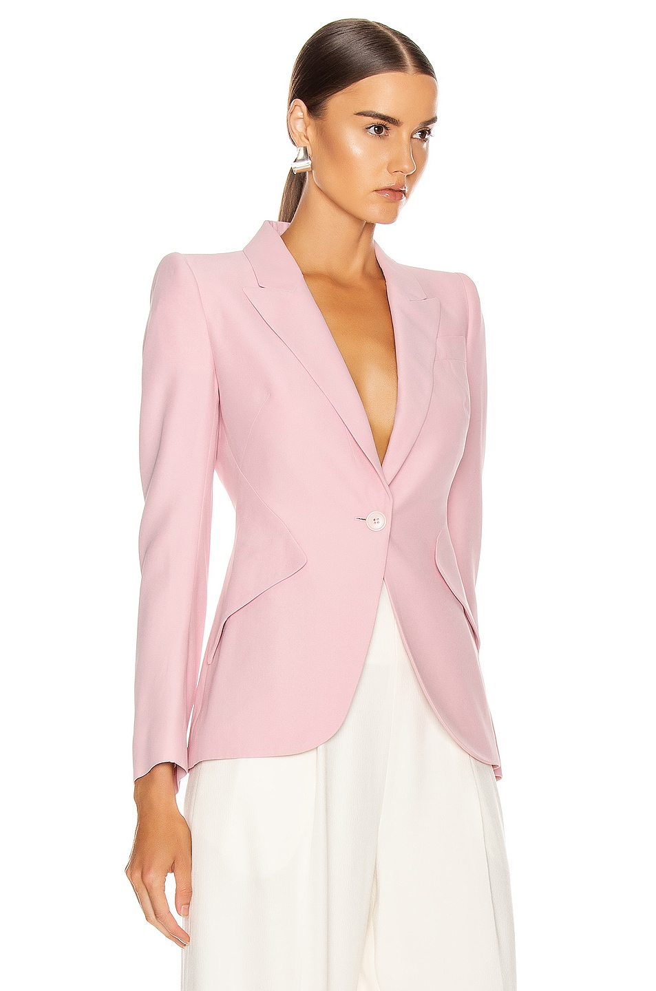 Image 3 of Alexander McQueen Tailored Jacket in Sugar Pink
