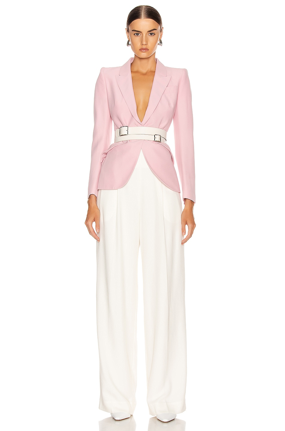Image 5 of Alexander McQueen Tailored Jacket in Sugar Pink