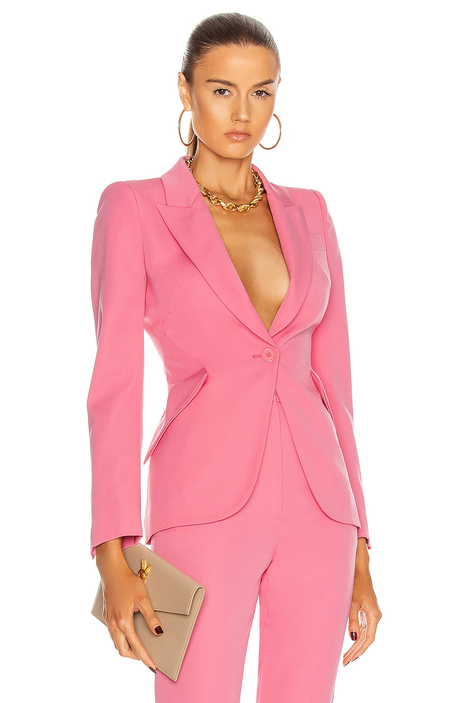 Image 1 of Alexander McQueen Single Button Jacket in Betony Pink