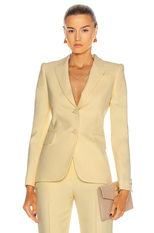 Image 1 of Alexander McQueen Two Button Jacket in Honeysuckle