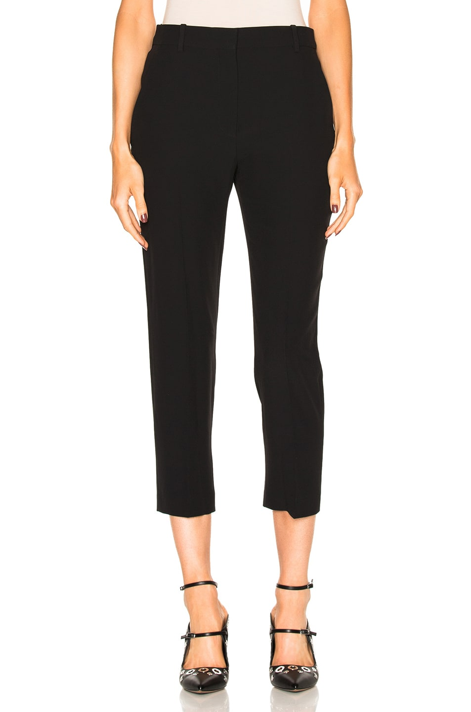 Image 1 of Alexander McQueen Cigarette Trousers in Black