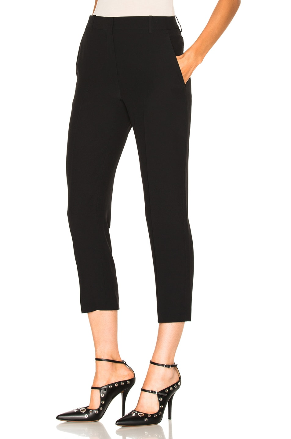 Image 2 of Alexander McQueen Cigarette Trousers in Black