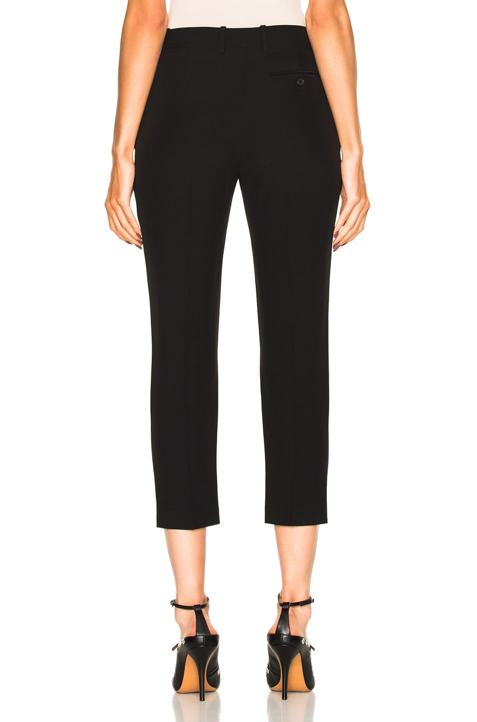 Image 4 of Alexander McQueen Cigarette Trousers in Black