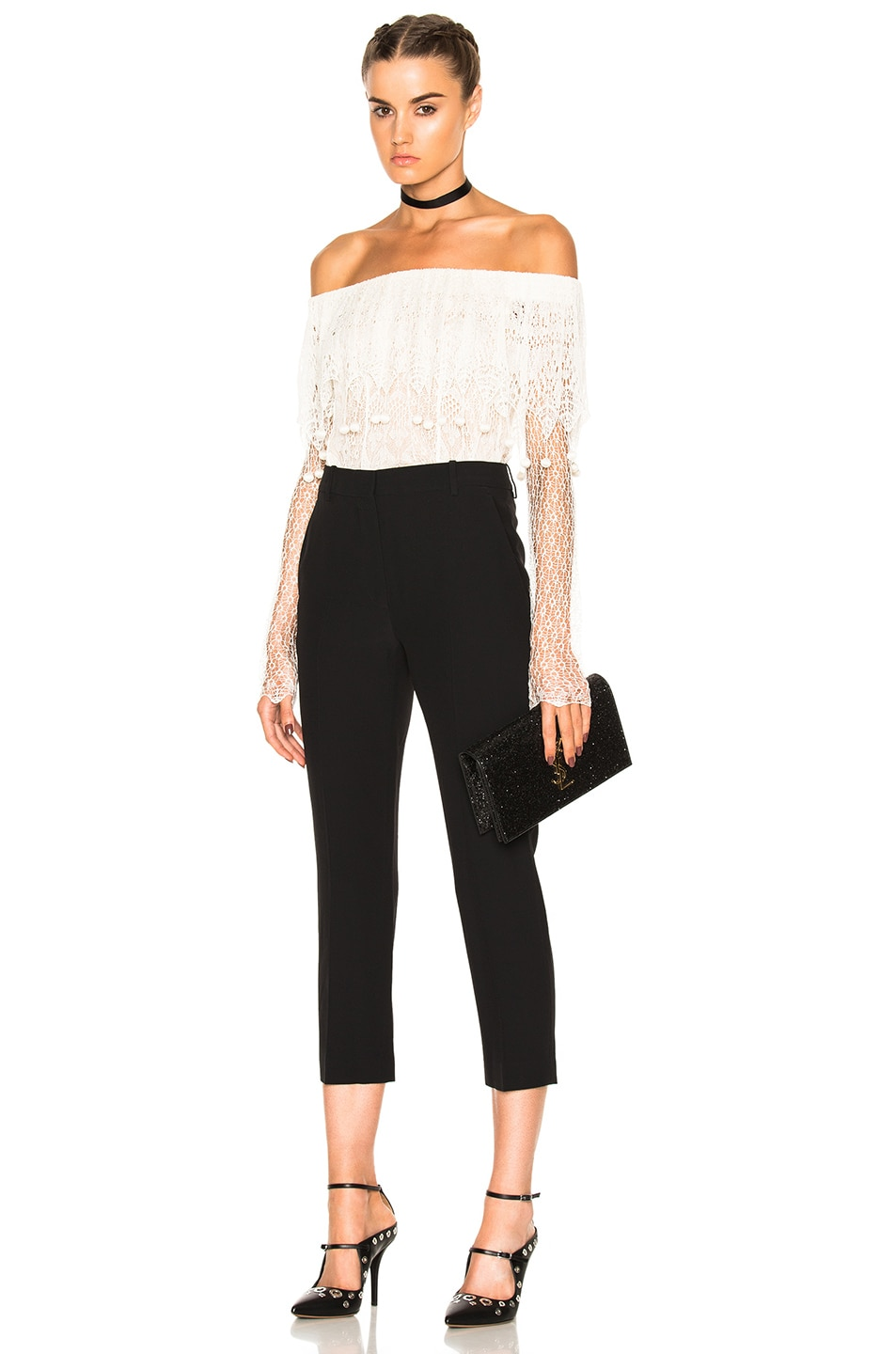 Image 5 of Alexander McQueen Cigarette Trousers in Black