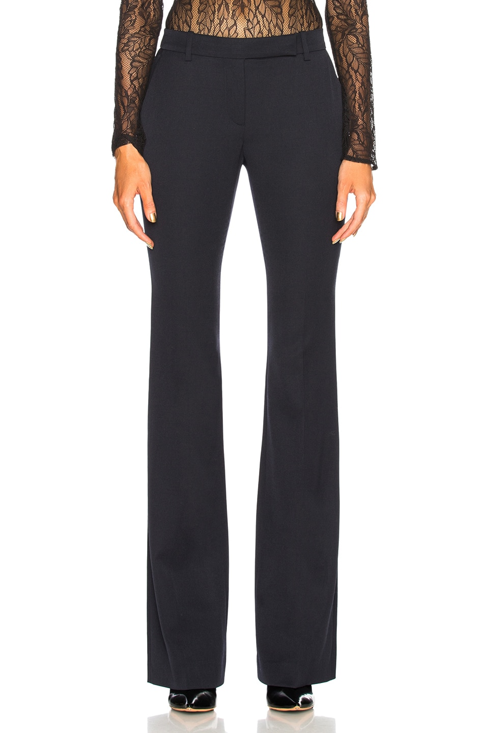 Image 1 of Alexander McQueen Narrow Bootcut Trousers in Midnight Blue