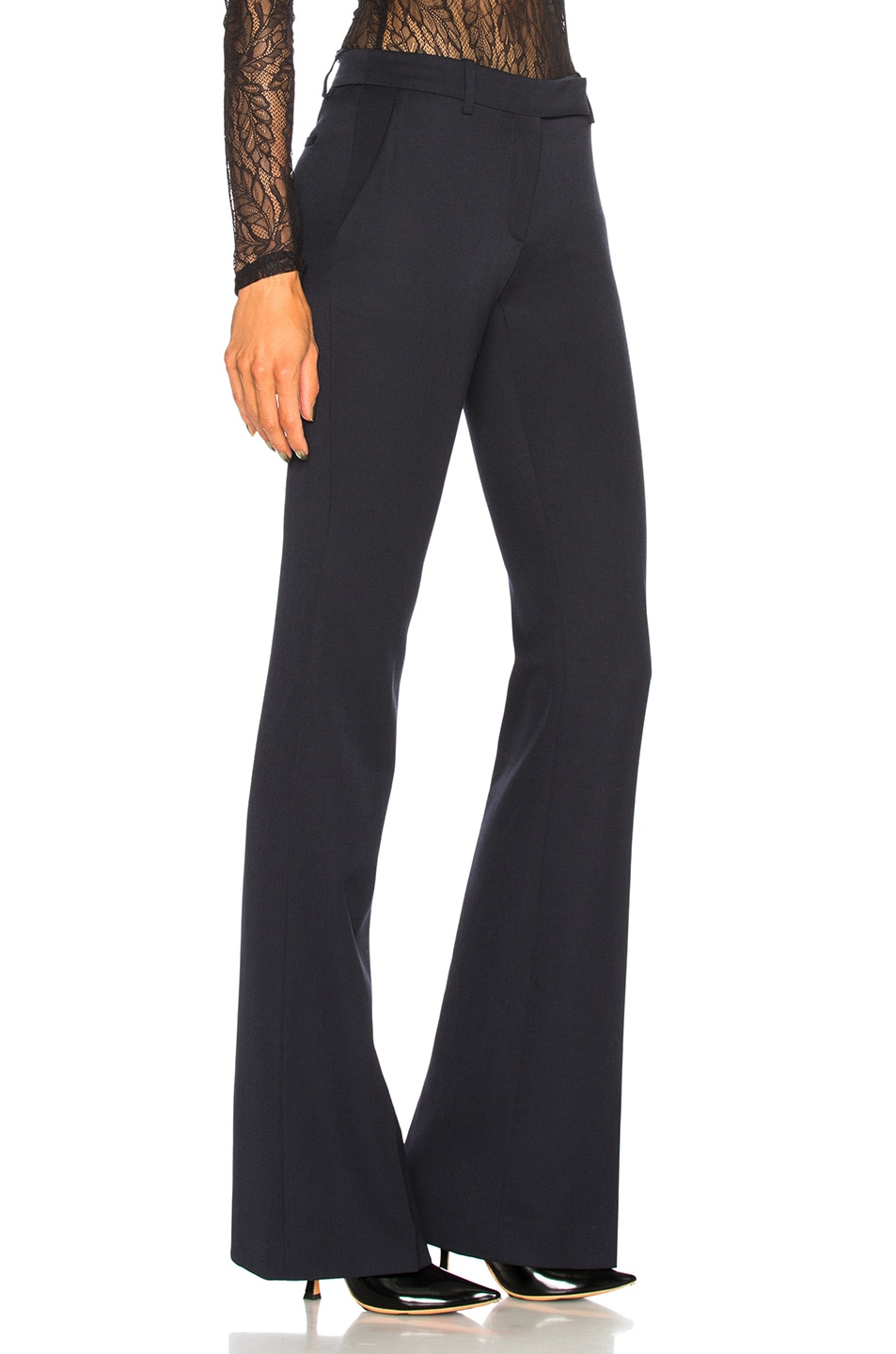 Image 2 of Alexander McQueen Narrow Bootcut Trousers in Midnight Blue