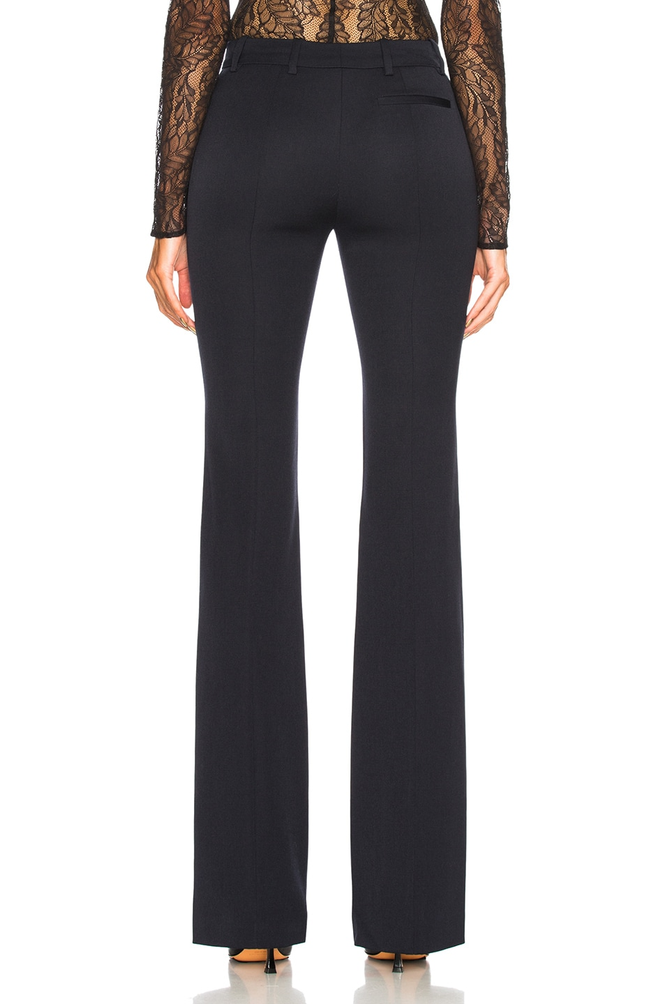 Image 3 of Alexander McQueen Narrow Bootcut Trousers in Midnight Blue