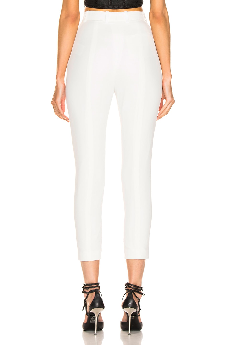 Image 3 of Alexander McQueen High Waisted Cigarette Pant in Ivory