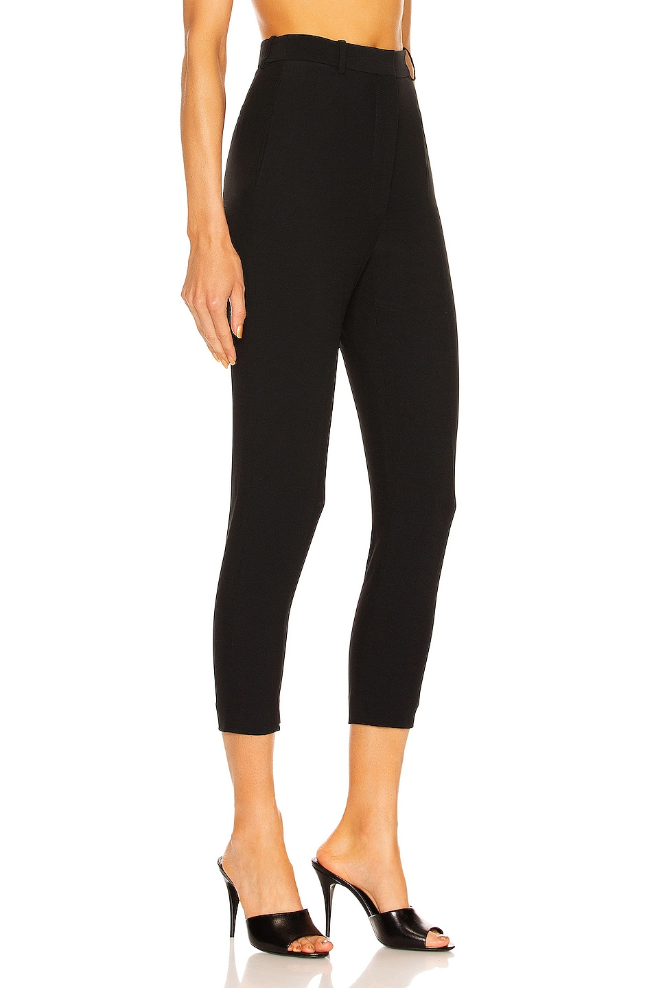 Image 2 of Alexander McQueen High Waisted Cigarette Pant in Black