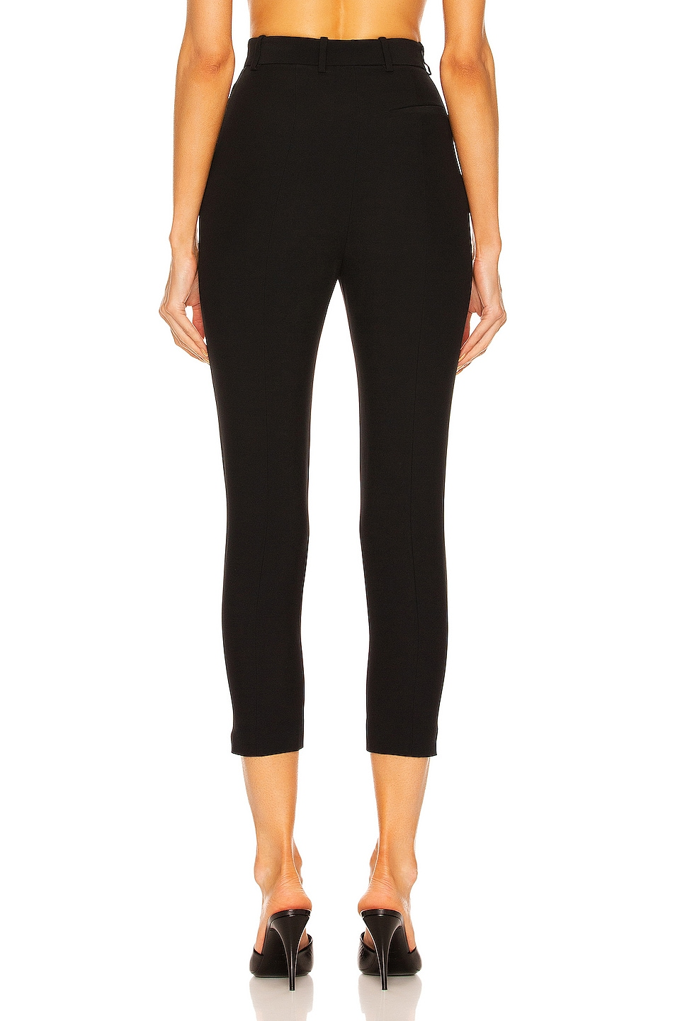 Image 3 of Alexander McQueen High Waisted Cigarette Pant in Black