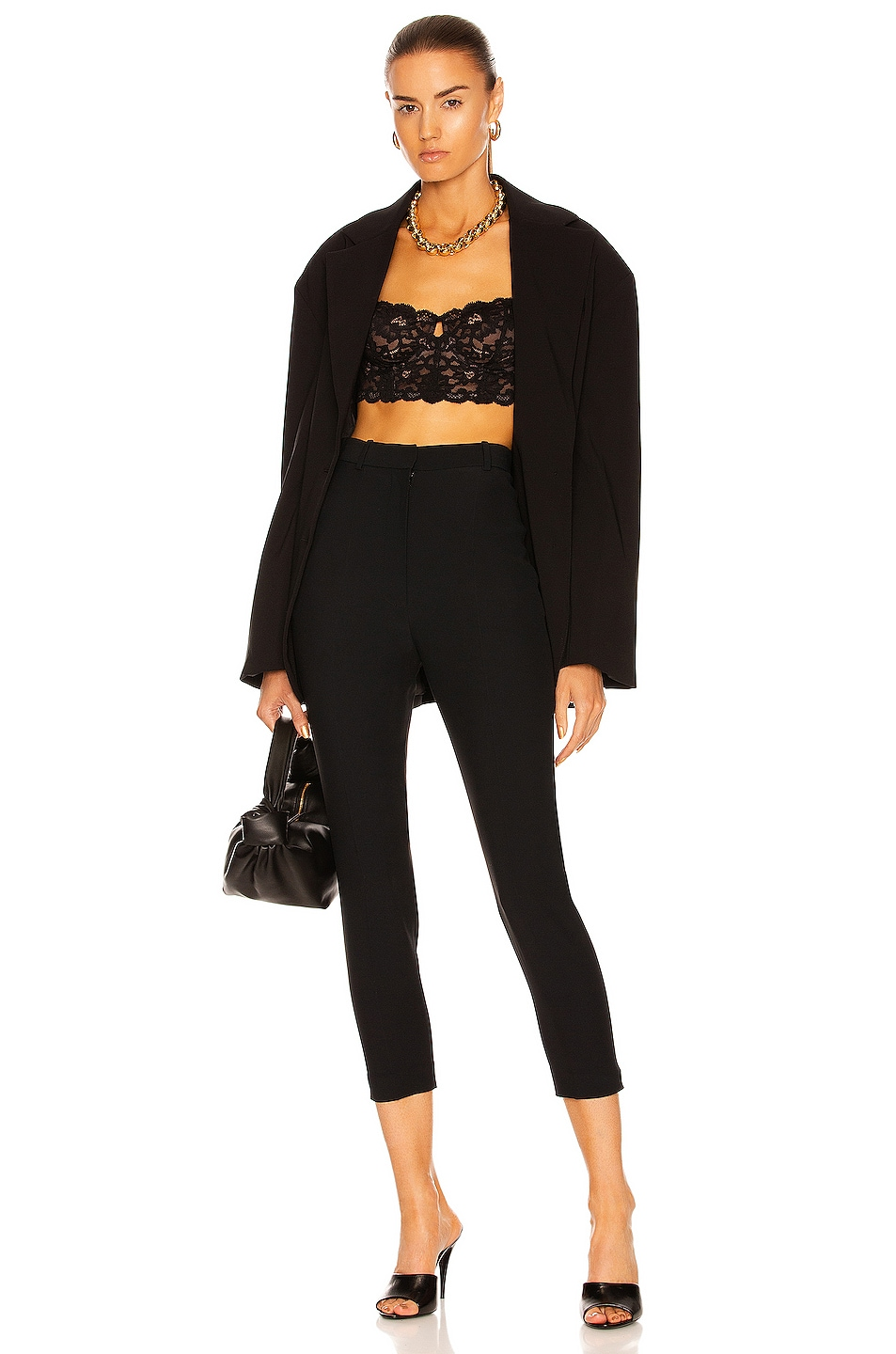 Image 4 of Alexander McQueen High Waisted Cigarette Pant in Black