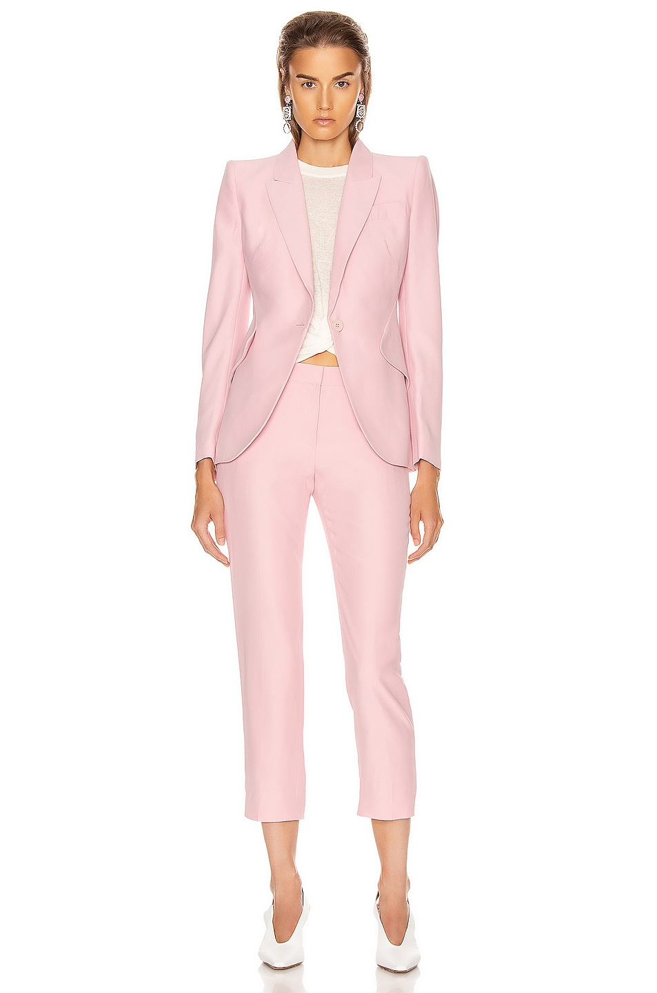 Image 4 of Alexander McQueen Cigarette Pant in Sugar Pink