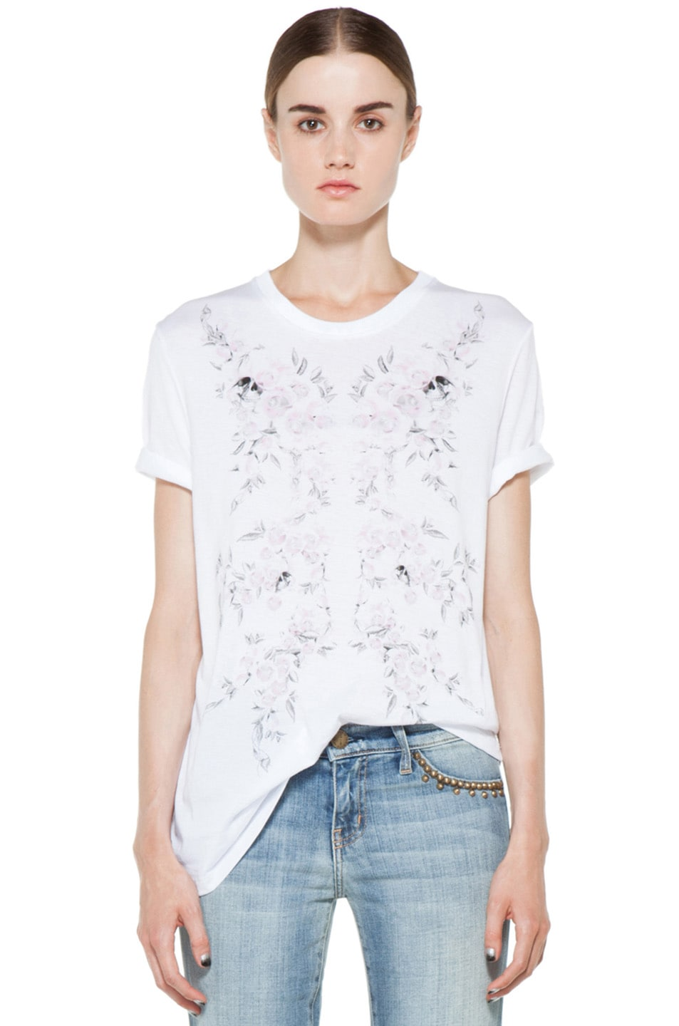 Image 1 of Alexander McQueen Roses Tee in White