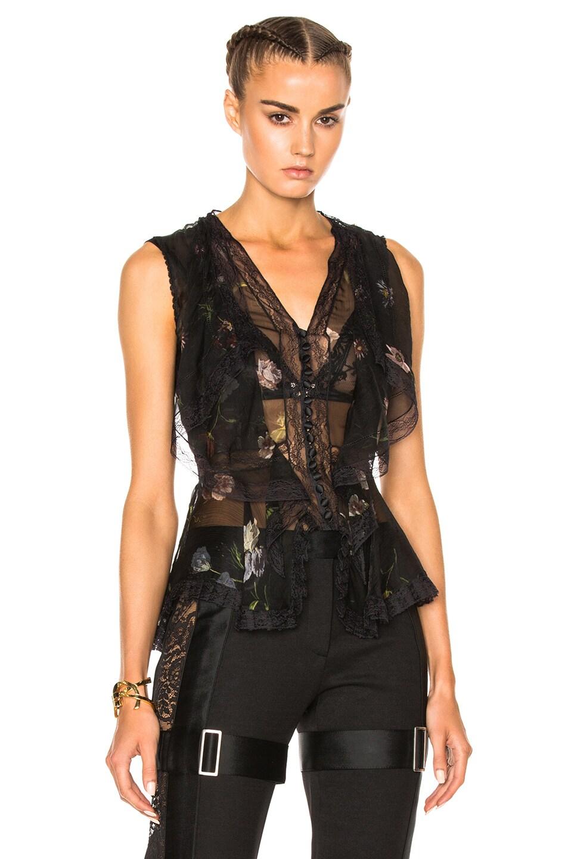 Image 1 of Alexander McQueen Sleeveless Top in Black Mix