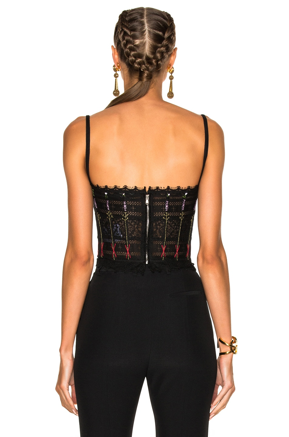 Image 4 of Alexander McQueen Lace Bustier in Black
