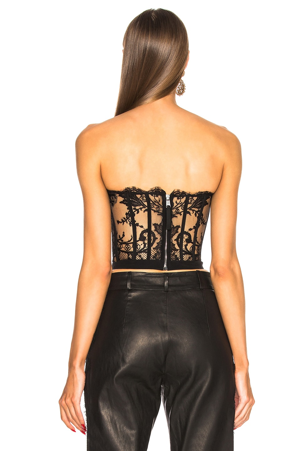 Image 3 of Alexander McQueen Lace Bustier in Black