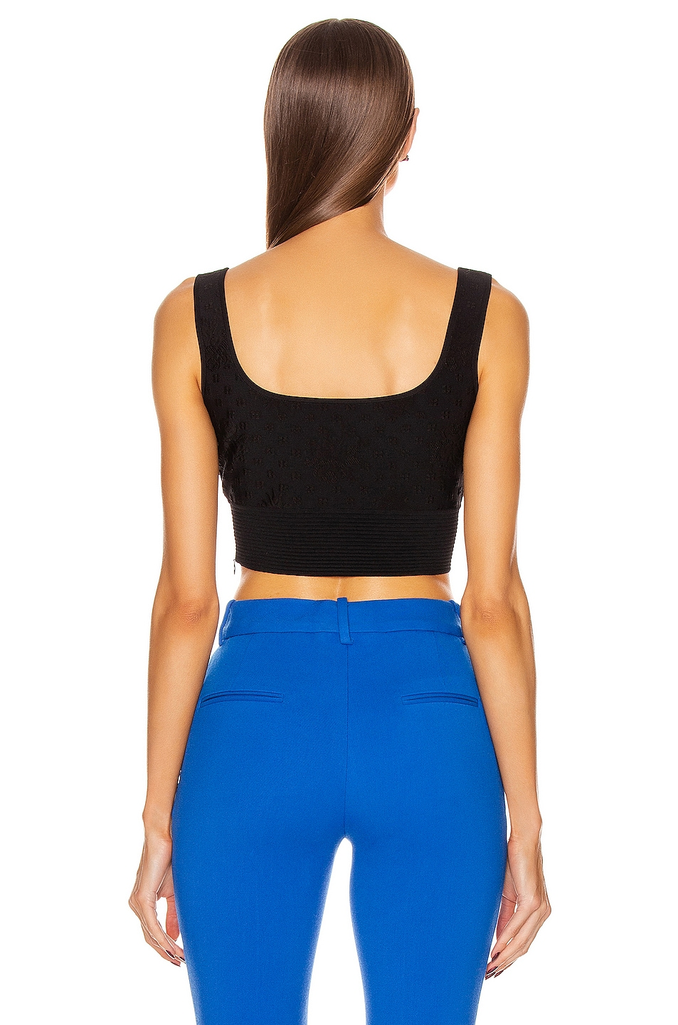 Image 3 of Alexander McQueen Sleeveless Crop Top in Black