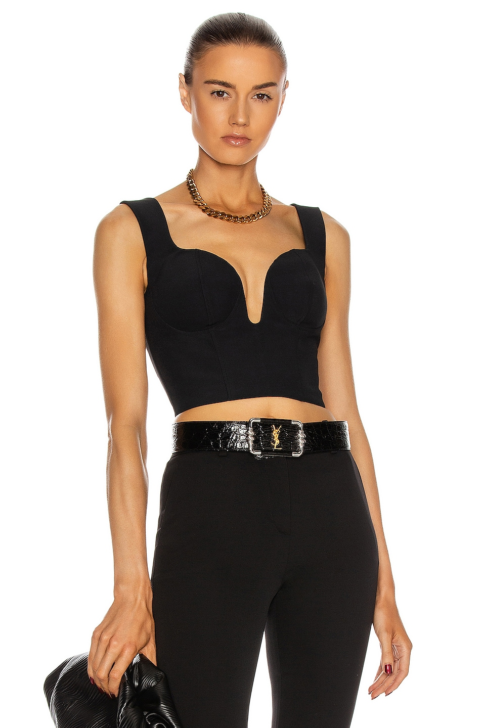 Image 1 of Alexander McQueen Corset Top in Black