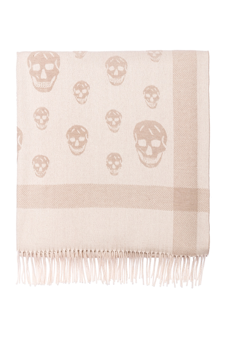 Image 1 of Alexander McQueen Skull Big Shawl in Lead & Light Grey