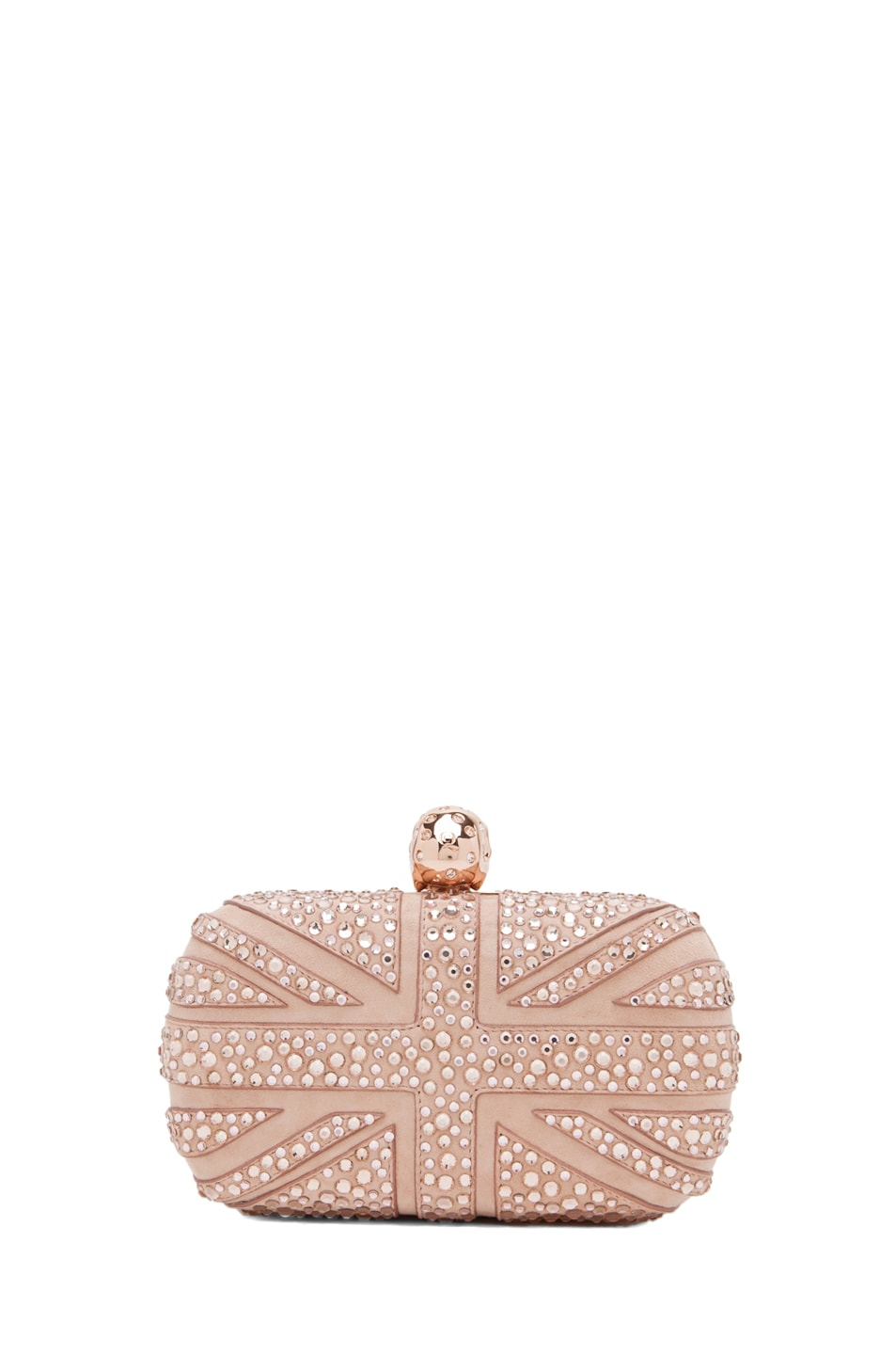 Cheap Price Beige Skull Clutch Alexander McQueen Outlet Locations DLDtH