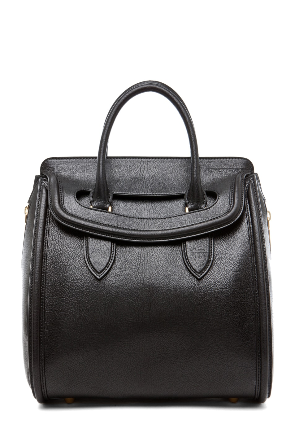 Image 1 of Alexander McQueen Calf Tote in Black