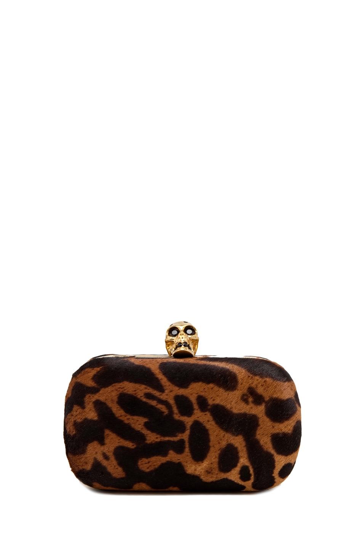 Image 1 of Alexander McQueen Skull Handbag w/ Strap in Natural/Black