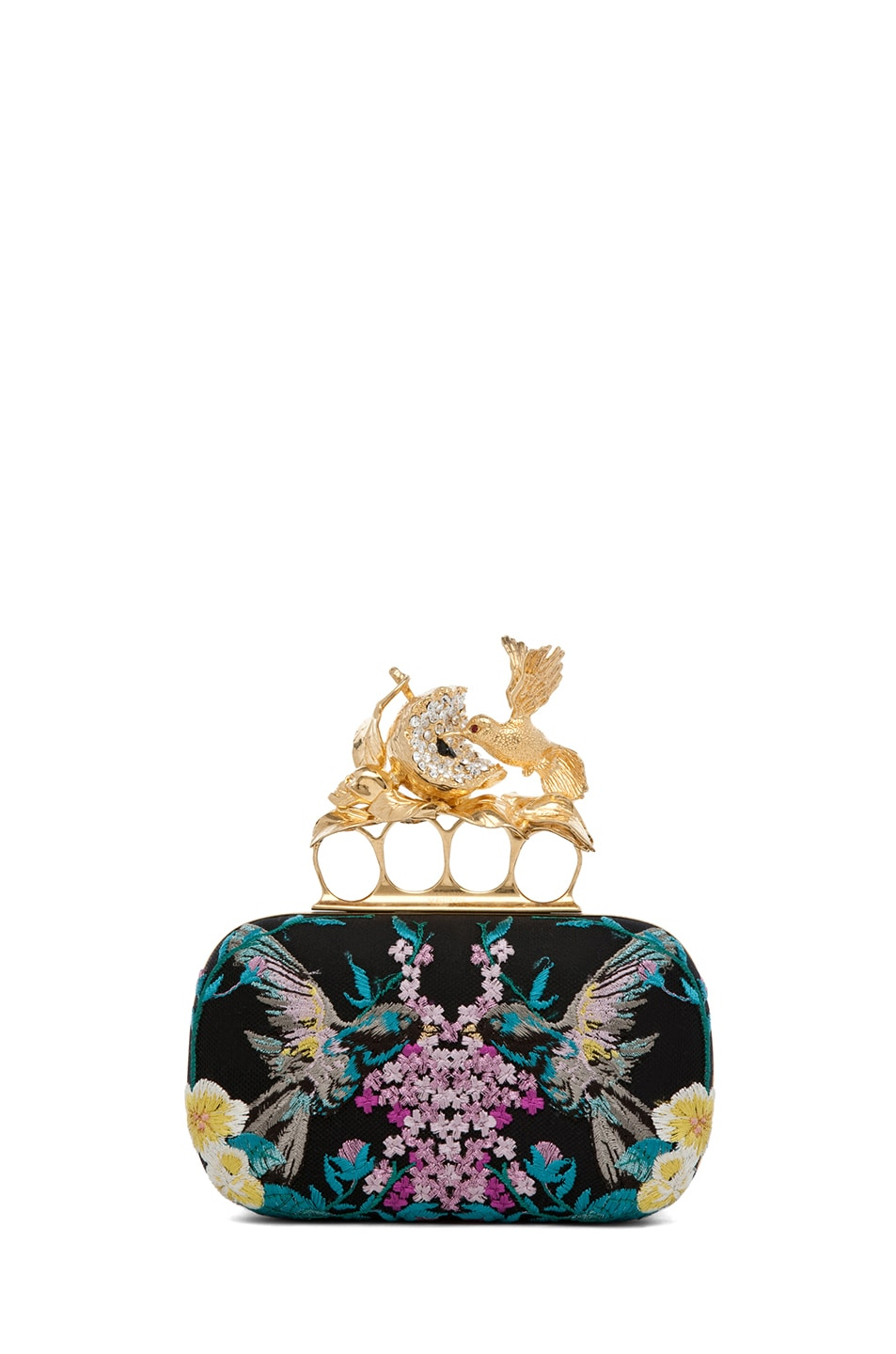 Image 1 of Alexander McQueen Hummingbird Clutch in Multi