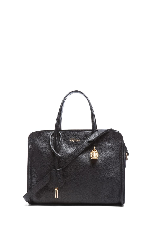 472387e8dd8c Image 1 of Alexander McQueen Small Padlock Zip Around Bag in Black