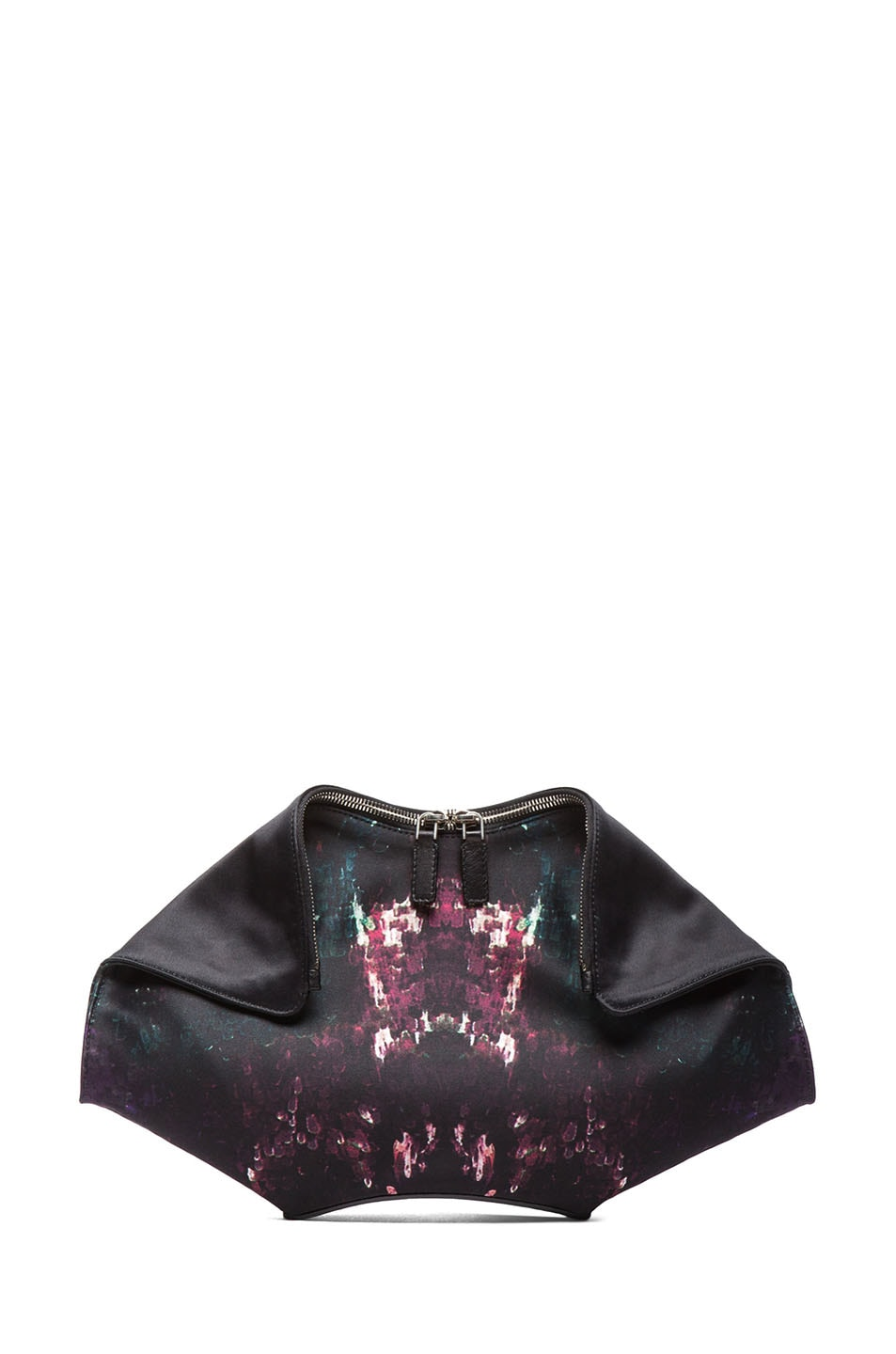 Image 1 of Alexander McQueen Moth Print De Manta Clutch in Multi