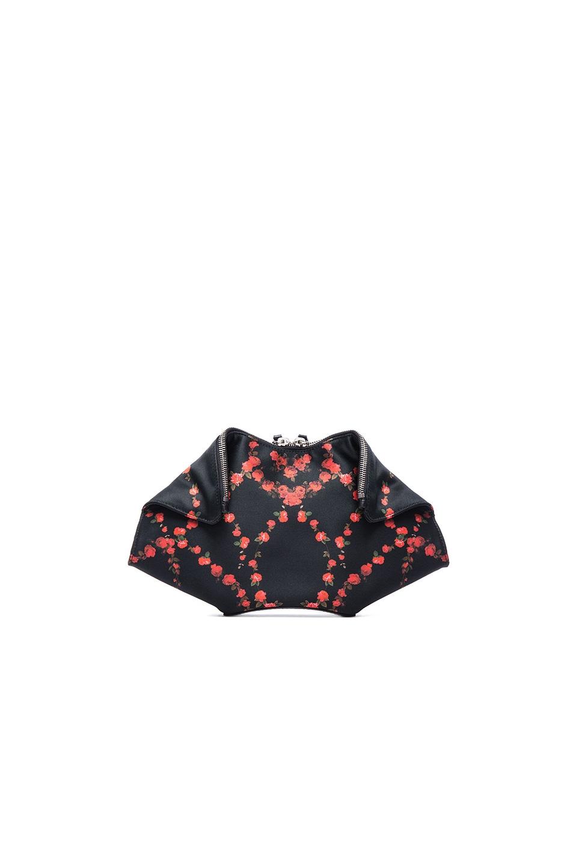 Image 1 of Alexander McQueen Small Printed Demanta Clutch in Black Multi