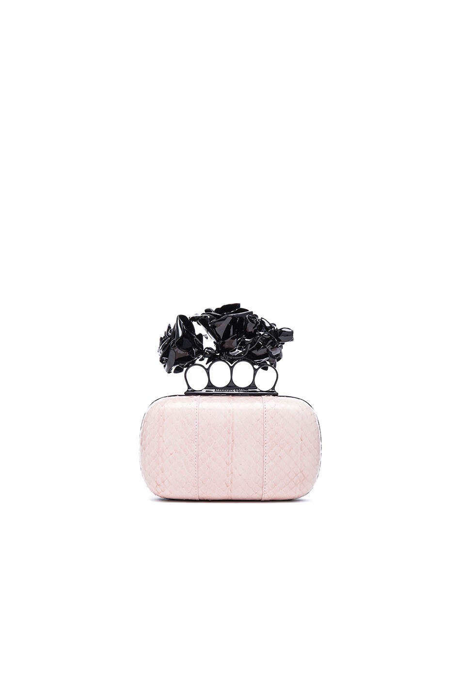 Image 1 of Alexander McQueen Rose Knuckle Box in Teint