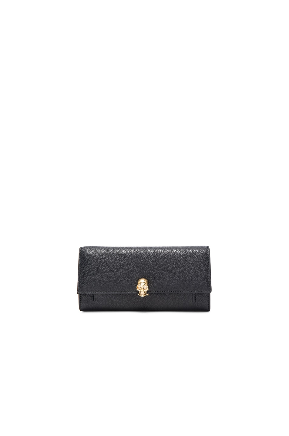Image 1 of Alexander McQueen Chain Wallet in Black