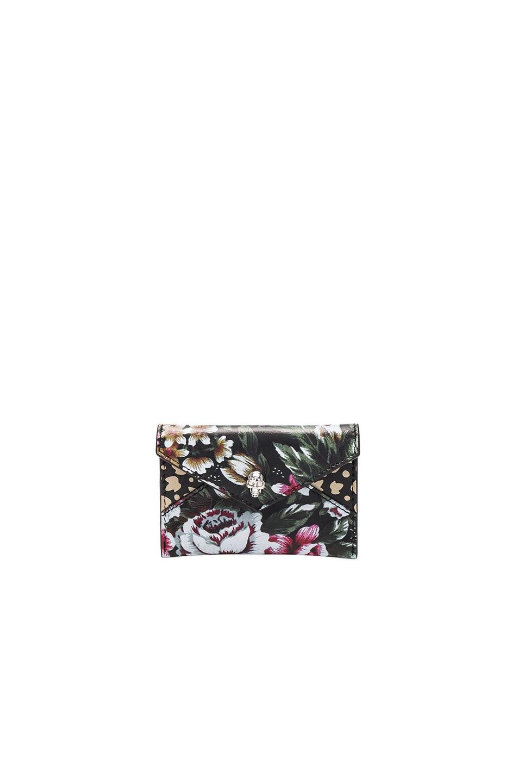 Image 1 of Alexander McQueen Skull Envelope Card Holder in Multicolor