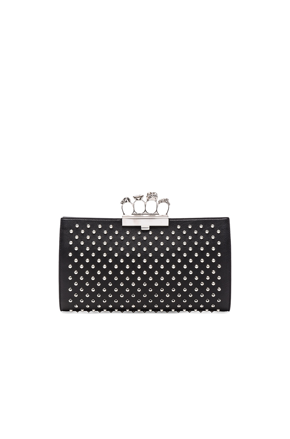 Image 1 of Alexander McQueen Flat Pouch Leather in Black