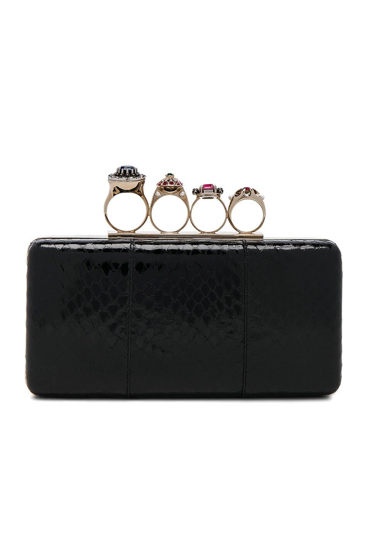Image 1 of Alexander McQueen Jewelry Ring Box Clutch in Black