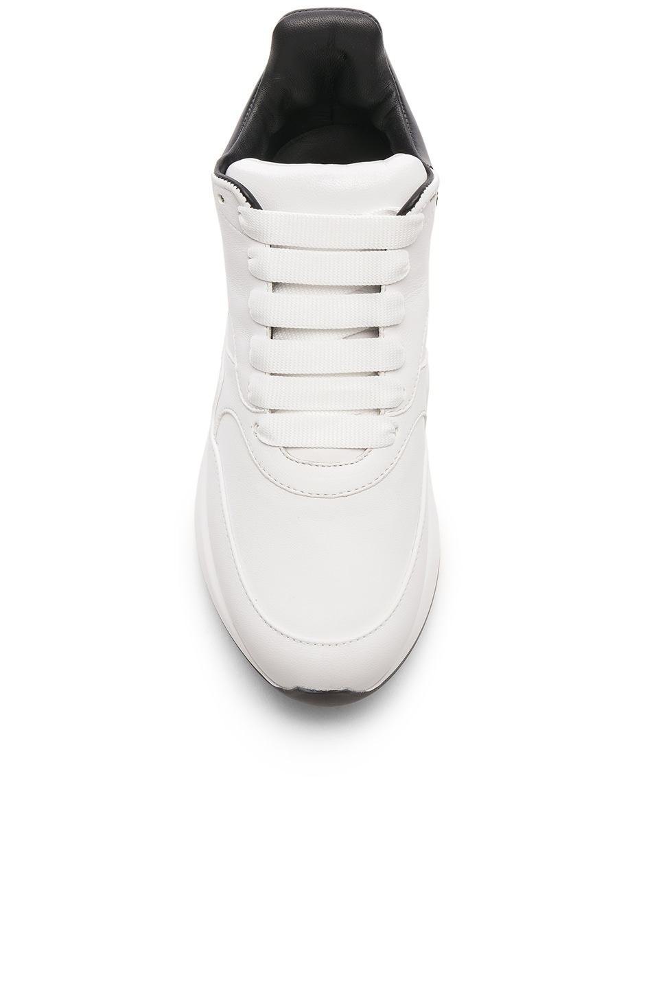 Image 4 of Alexander McQueen Two Tone Platform Sneakers in Optic White & Black